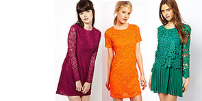 Chain-Store Steals: Bright Lace Frocks