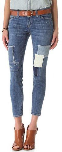 Current/elliott Stiletto Patchwork Jeans