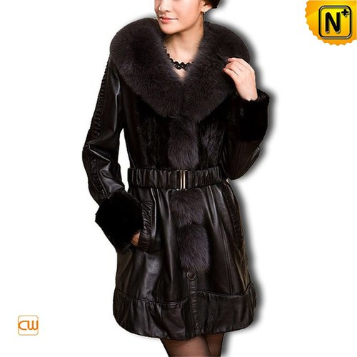 Women Sheepskin Leather Coat CW610038 - cwmalls.com