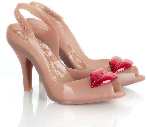 Vivienne Westwood Pink VW Ladydragon Lips Womens Peep Toe Shoe