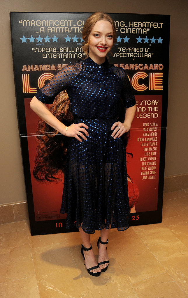 Amanda Seyfried and Peter Sarsgaard Hug It Out at a Special Screening