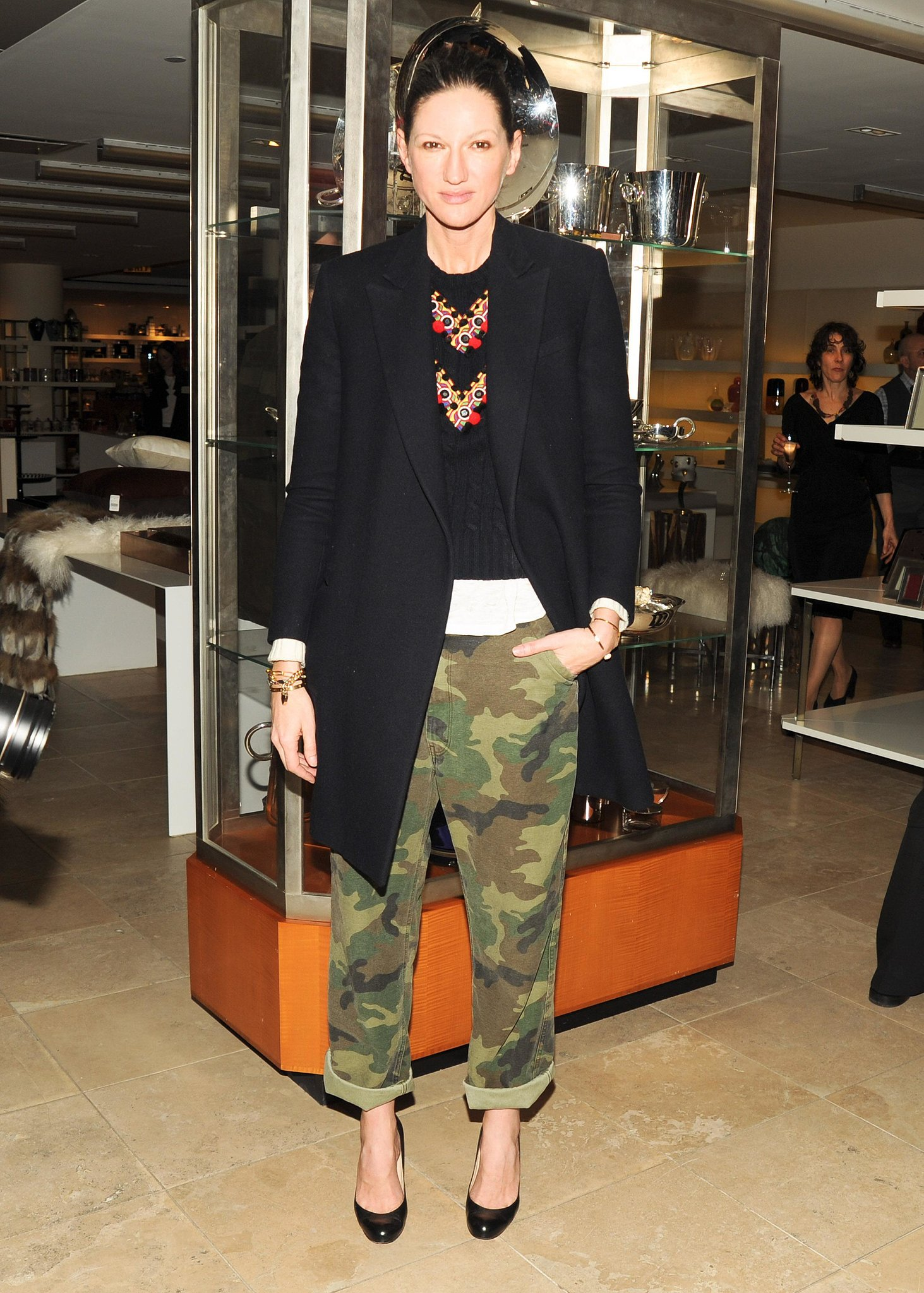 Before most of us even knew we liked camo, she was rocking the print in