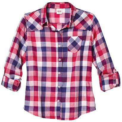 Mossimo Supply Co. Juniors Button Down Plaid Shirt - Assorted Colors