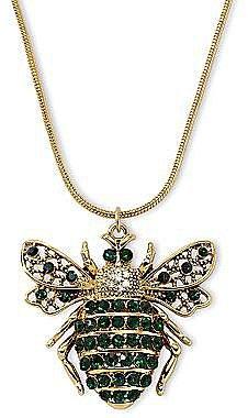 Green Crystal Bug Pendant