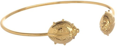 Emily Elizabeth Jewelry - Open Bangle Bracelet (14K Gold Plated (Ladybug)) - Jewelry