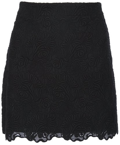 Stella Mccartney lace scalloped skirt