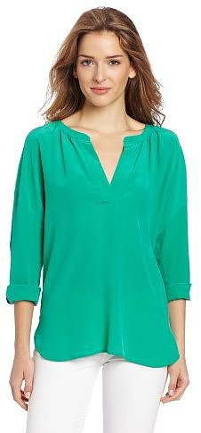 Two by Vince Camuto Women's Long Sleeve Split Neck Tunic