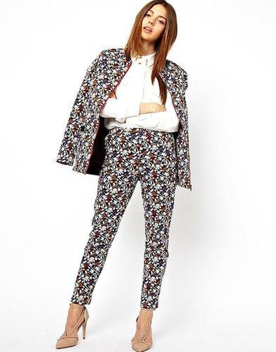 ASOS Pants in Print with Zip Detail
