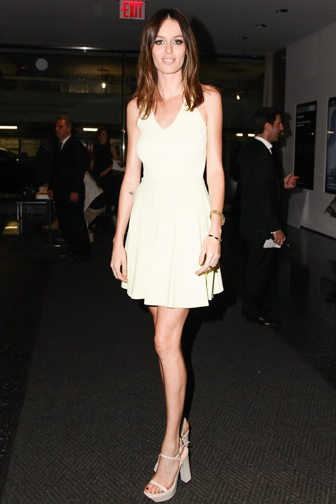 At the NYC Ain't Them Bodies Saints screening, Nicole Trunfio showed some leg in a Calvin Klein Collection LWD.