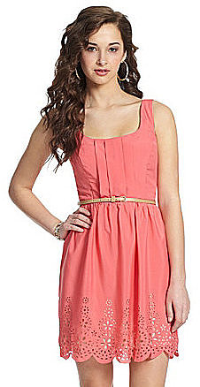 Teeze Me Belted Tank Dress