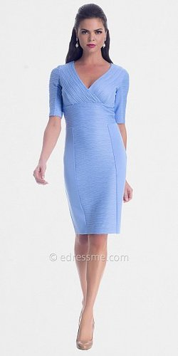 Periwinkle Short Sleeved Ruching Day Dresses from NUE by Shani