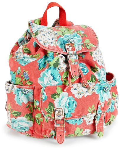 Floral Canvas Backpack