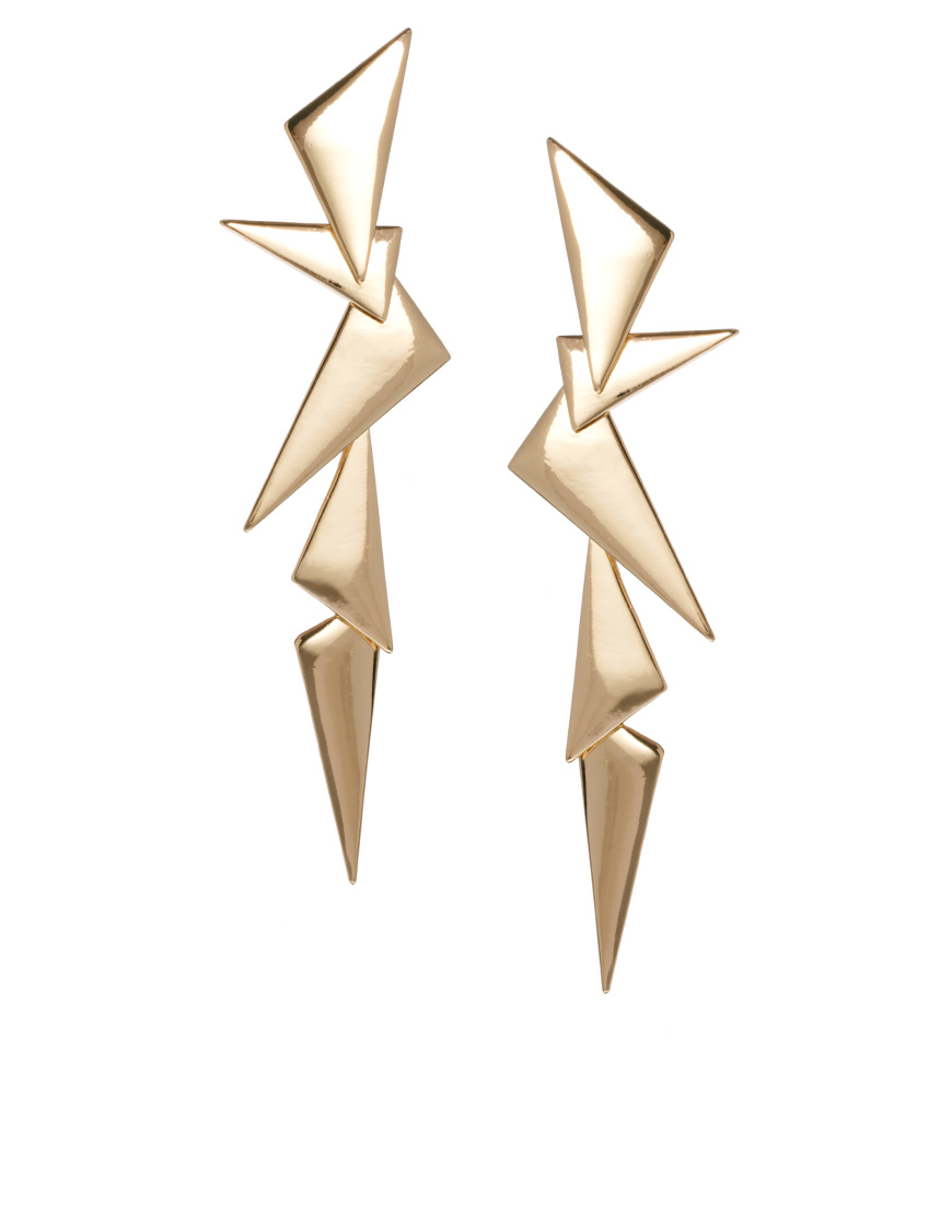 We ask you: what couldn't you wear with these ASOS metal shard earrings ($20)?