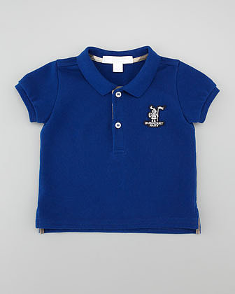 Burberry Short-Sleeve Knight Polo, Sizes 18M-3Y