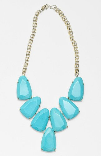 Kendra Scott 'Harlow' Frontal Necklace Turquoise/ Gold