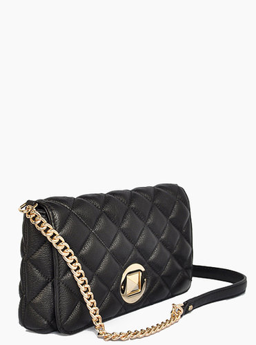 KATE SPADE BLACK GOLD COAST MEADOW SHOULDER BAG