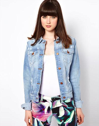 J Brand - Veste en jean vieilli