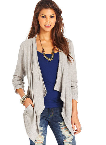 American Rag Juniors Cardigan, Long-Sleeve Terrycloth Draped