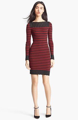Jean Paul Gaultier Fuzzi Nautical Stripe Knit Dress