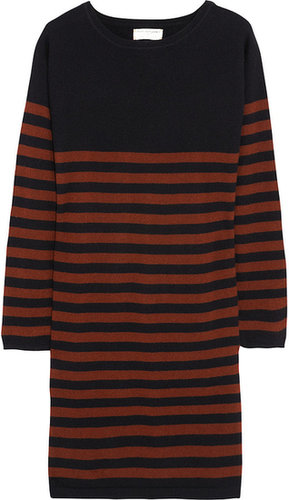 Chinti and Parker Striped cashmere sweater dress