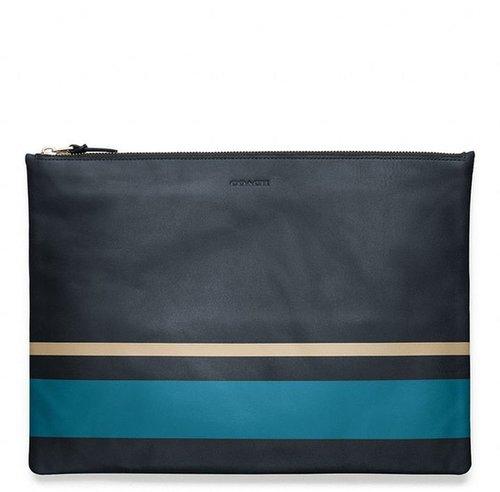 Bleecker Painted Stripe Leather Large Zip Portfolio