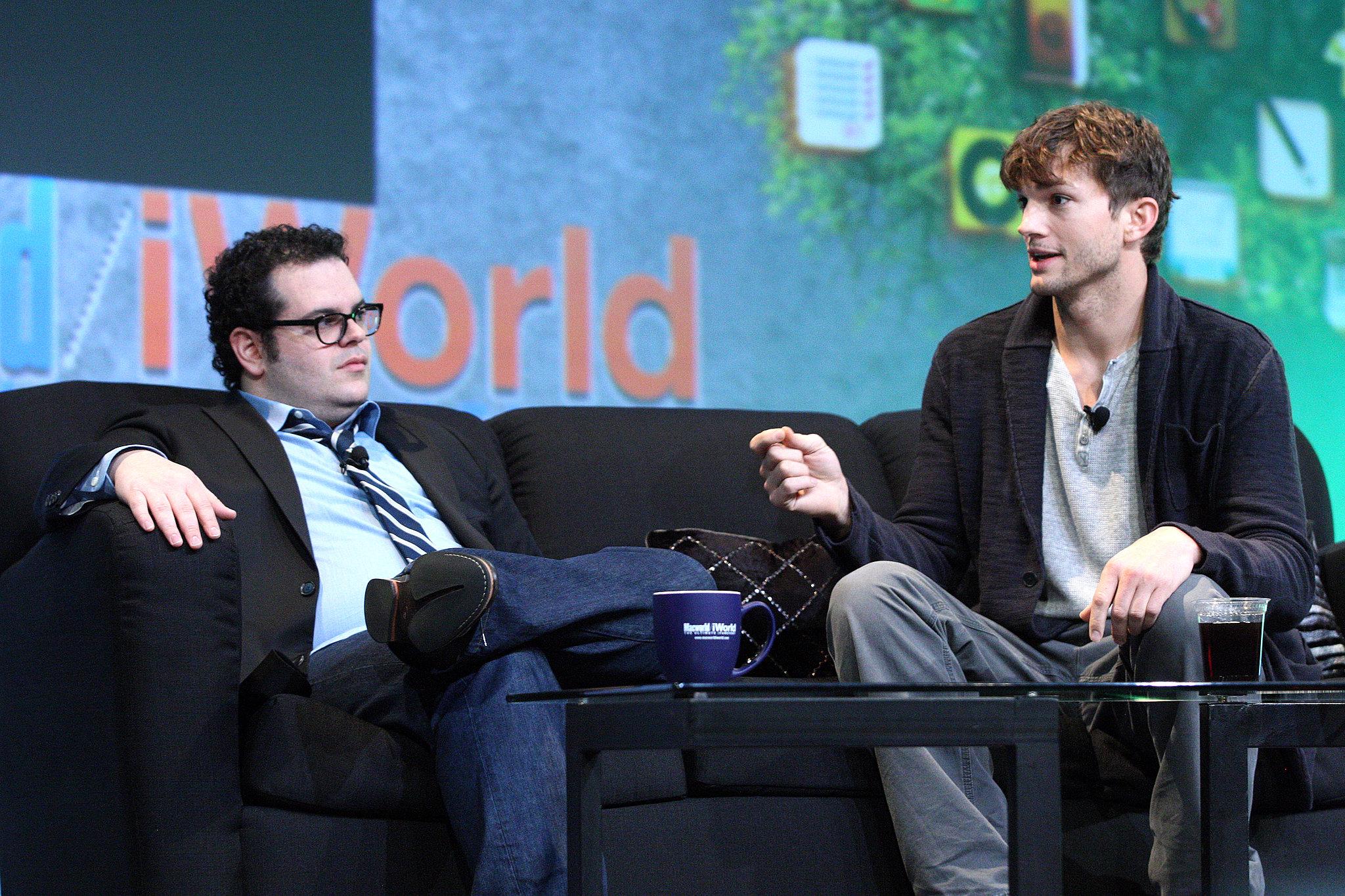 Ashton Kutcher and Josh Gad at Macworld