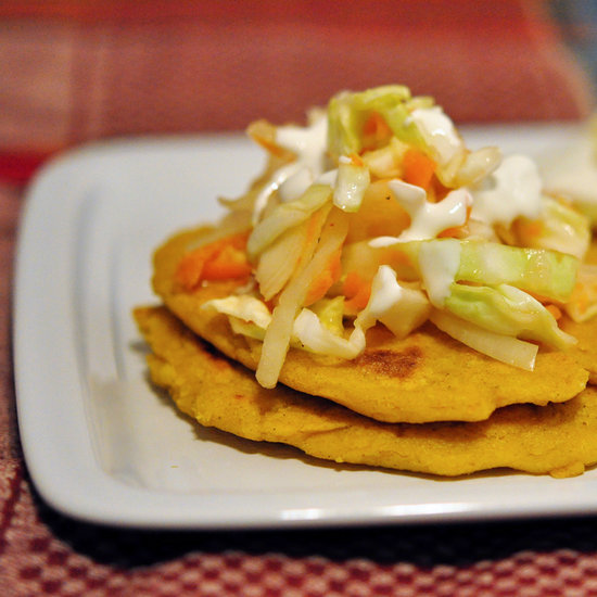 Cheese Pupusa and Coleslaw Recipe