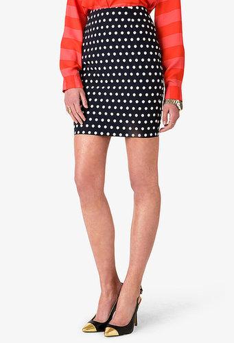 FOREVER 21 Essential Polka Dot Pencil Skirt