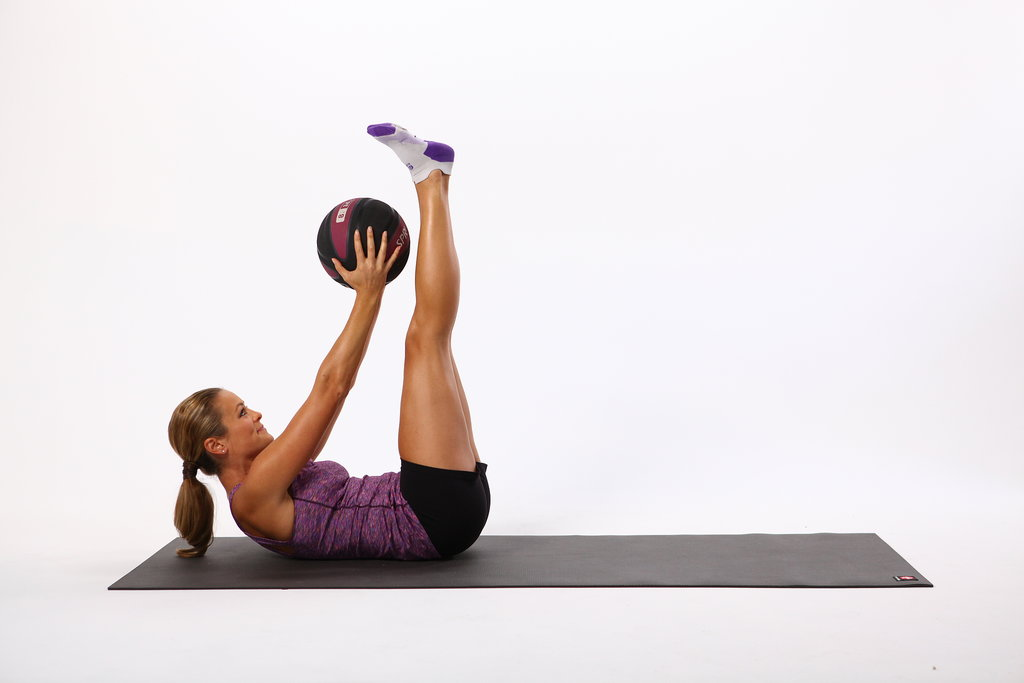 Double-Crunch Pulse With Medicine Ball