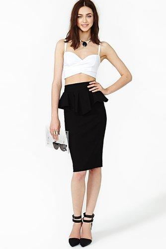 Noir Peplum Skirt