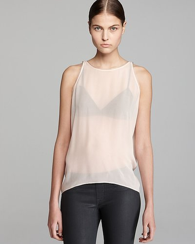 HELMUT Helmut Lang Shirt - Sleeveless Drop Top Ghost Silk