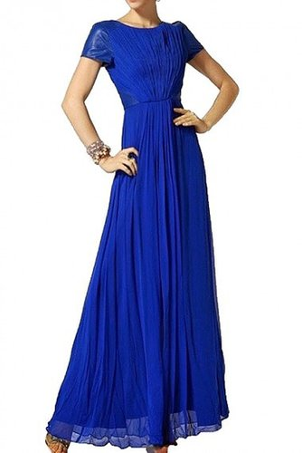 BCBG BLUE LEATHERINSET GOWN