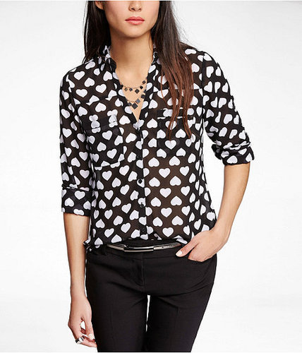Flipped Heart Convertible Sleeve Portofino Shirt