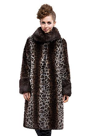 Fashion quality faux rabbit fur and faux raccoon fur collar|long coat|free shipping