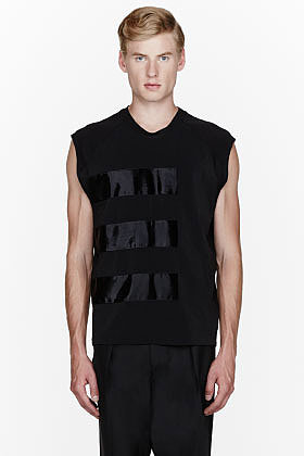 LANVIN Black multi-paneled shirt