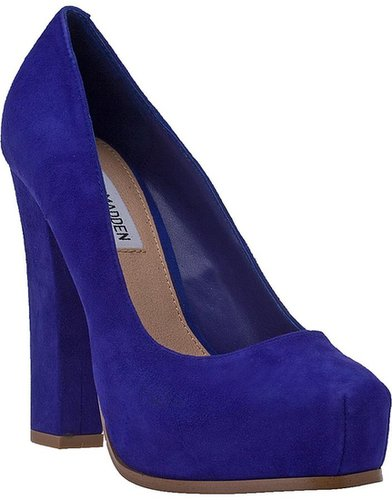 STEVE MADDEN Sarrina Platform Pump Royal Blue Suede