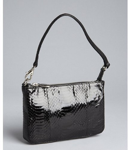 Furla small patent snakeskin and leather 'Audrey' mini shoulder bag