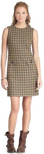 Lambswool Plaid Shift Dress