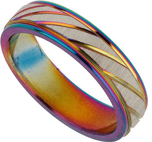 Metal Finish Diagonal Ring