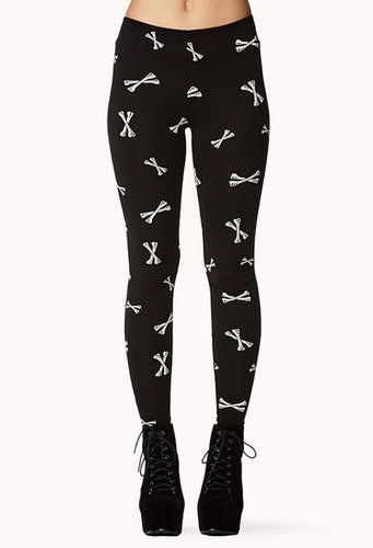 FOREVER 21 Cross Bones Leggings