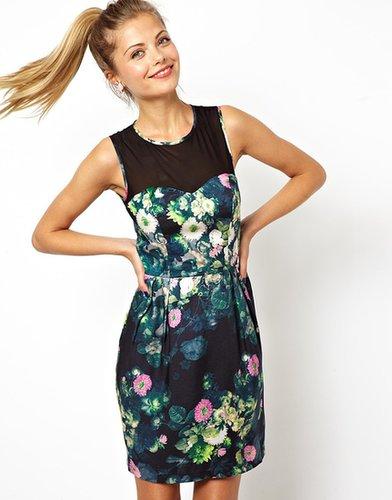 ASOS Digital Flower Mesh Dress