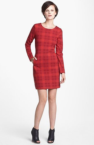 MARC by Marc Jacobs 'Maya' Plaid Wool Blend Sheath Dress