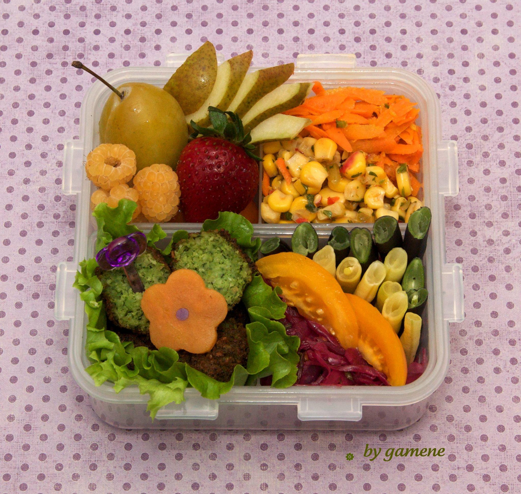 Corn and Carrot Salad Bento