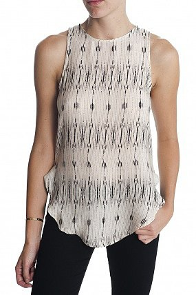 Haute Hippie Printed Cowl Back Top
