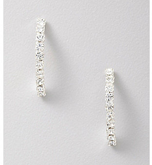 BTJeweled BT-Jeweled Half Hoop Crystal Earrings