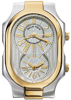 Philip Stein 'Signature' Large Two Tone Gold Case Silver/ Gold One Size