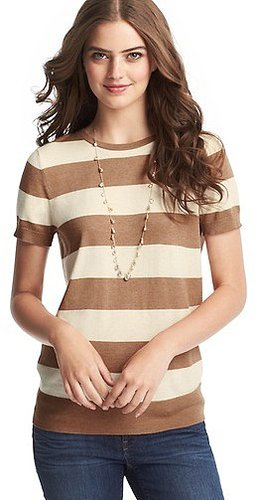 Wide Stripe Sweater Tee