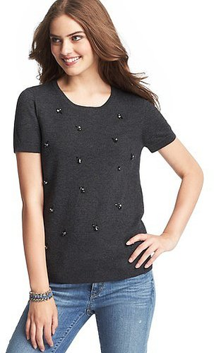 Jeweled Sweater Tee