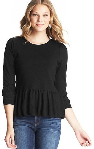 3/4 Sleeve Peplum Sweater