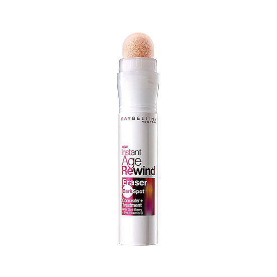 While you're waiting for your dark spots to clear up, use Maybelline Instant Age Rewind Eraser Dark Spot Concealer + Treatment ($10) to cover and treat (with vitamin C) at the same time.